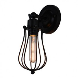 AC220V-240V 4W E27 Led Light Painted Steel Wall Lamp Dumb Black American Coffee Decoration Retro Wall Light Lightsaber Lamp On Wall