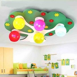 Modern/Contemporary LED Wood/Bamboo Flush Mount Living Room / Bedroom / Kids Room