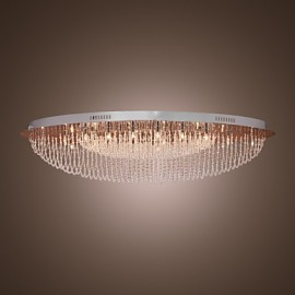 Max 20W Modern/Contemporary Crystal / Bulb Included Chrome Metal Flush Mount Living Room / Bedroom
