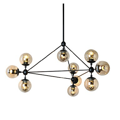 Chandeliers 10 Lights/Glass Ball Lights/ Retro Living Roo / Hallway / Outdoors / Garage Metal