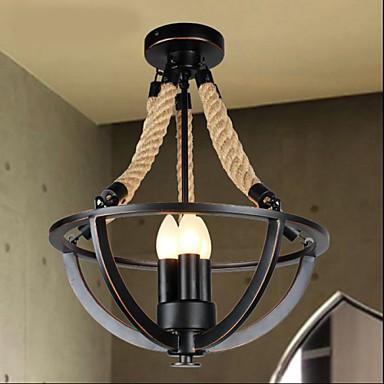 American Bedroom Ceiling Retro LED Rope Simple Aisle Lamp