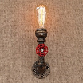 AC 110-130 AC 220-240 40 E26/E27 Country Retro Painting Feature for Mini Style Bulb Included,Ambient Light Wall Sconces Wall Light