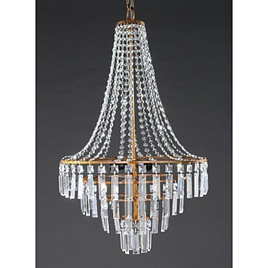 40W Modern/Contemporary / Traditional/Classic / Rustic/Lodge / Retro / Lantern / Country Crystal Antique Brass Metal ChandeliersLiving