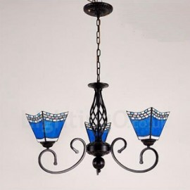 3 Light Mediterranean Style LED Integrated Living Room,Dining Room,Bed Room Metal Chandeliers