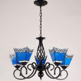 5 Light Mediterranean Style LED Integrated Living Room,Dining Room,Bed Room Metal Chandeliers