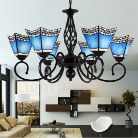 6 Light Mediterranean Style LED Integrated Living Room,Dining Room,Bed Room Metal Chandeliers
