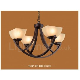 4 Light Rustic/Lodge LED Integrated Metal Chandeliers