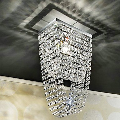 Max 60W Modern/Contemporary Crystal / Mini Style Electroplated Flush Mount Living Room / Dining Room