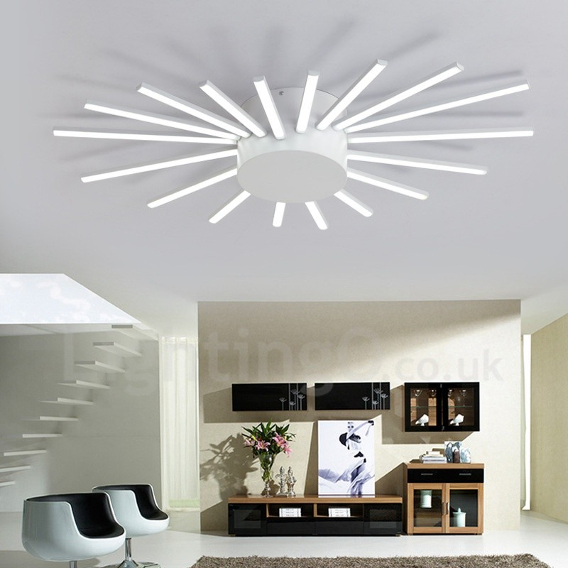 living room room 18 light modern contemporary led integrated living room 10634