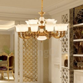 15 Light Traditional/Classic LED Integrated Living Room,Dining Room,Bed Room Metal Luxury Chandeliers