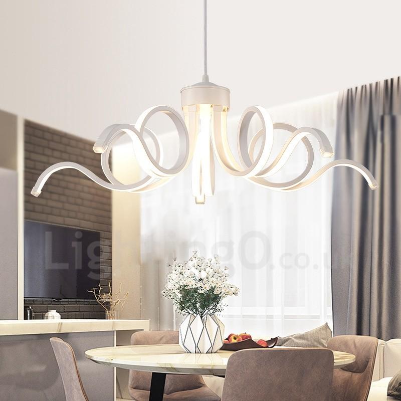 Modern contemporary led integrated living room dining room - Lampadario camera da letto ...