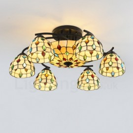 9 Light Mediterranean Style LED Integrated Living Room,Dining Room,Bed Room E27 Chandeliers