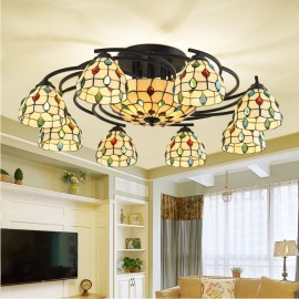 11 Light Mediterranean Style LED Integrated Living Room,Dining Room,Bed Room E27 Chandeliers