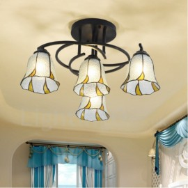 4 Light Mediterranean Style LED Integrated Bath Room,Living Room,Bed Room,Dining Room E27 Metal Chandeliers
