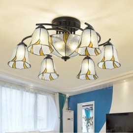 9 Light Mediterranean Style LED Integrated Bath Room,Living Room,Bed Room,Dining Room E27 Metal Chandeliers