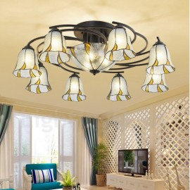 11 Light Mediterranean Style LED Integrated Bath Room,Living Room,Bed Room,Dining Room E27 Metal Chandeliers