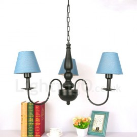 3 Light Traditional/Classic LED Integrated Living Room,Dining Room,Bed Room Metal Chandeliers