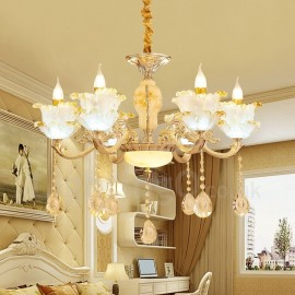 6 Light Traditional/Classic LED Integrated Living Room,Dining Room,Bed Room Metal Chandeliers