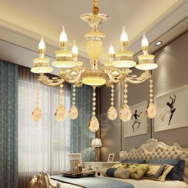 6 Light Traditional/Classic LED Integrated Living Room,Dining Room,Bed Room Metal Luxury Chandeliers