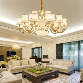 15 Light Traditional/Classic LED Integrated Living Room,Dining Room,Bed Room Metal Chandeliers