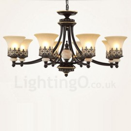 8 Light Traditional/Classic LED Integrated Living Room,Dining Room,Bed Room Metal Chandeliers