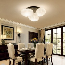 3 Light Traditional/Classic LED Integrated Living Room,Dining Room,Bed Room E27 Chandeliers with Glass Shade