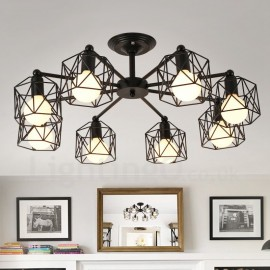 8 Light Rustic/Lodge LED Integrated Living Room,Dining Room,Bed Room E27 Chandeliers