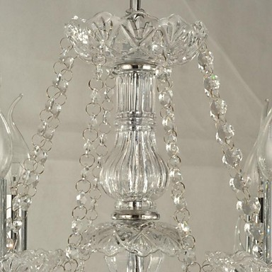Maximum 60 W Modern/Contemporary Crystal Glass ChandeliersLiving Room / Bedroom / Dining Room / Bathroom / Study Room/Office / Kids Room