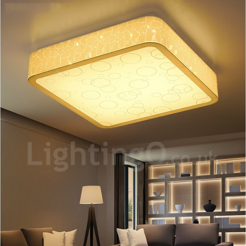 Led Ceiling Lights For Dining Room : Modern contemporary led integrated living room dining