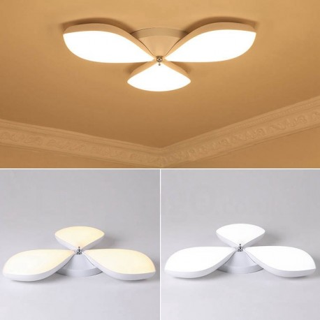 3 light modern contemporary led integrated living room dining room bed room metal flush mount for Ceiling lights for living room philippines