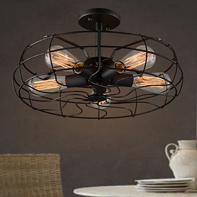 The American Country Industrial Designer Lamp Personalized Restaurant Balcony Lamp European Retro Fan Ceiling Lamps