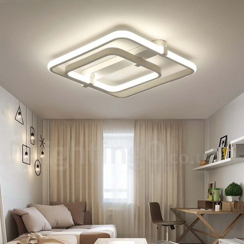 2 Rings Modern Contemporary Led Integrated Living Room Dining Room Bed Room Pvc Flush Mount