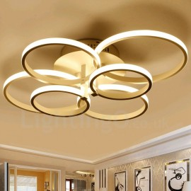 6 Light Modern/Contemporary LED Integrated Living Room,Dining Room,Bed Room Metal Flush Mount