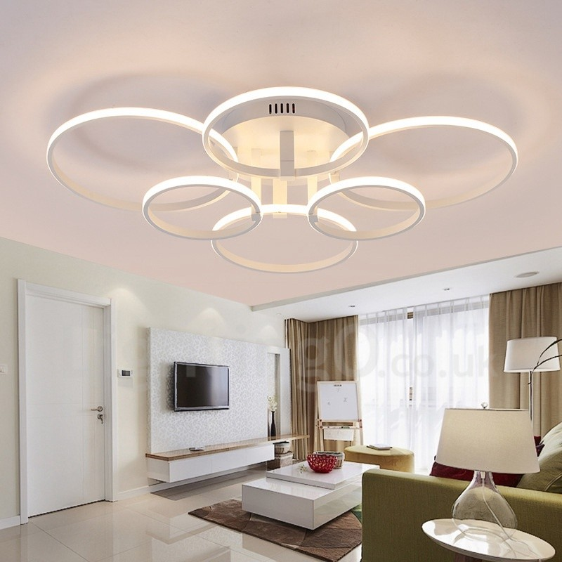 Light Filled Contemporary Living Rooms: 6 Light Modern/Contemporary LED Integrated Living Room
