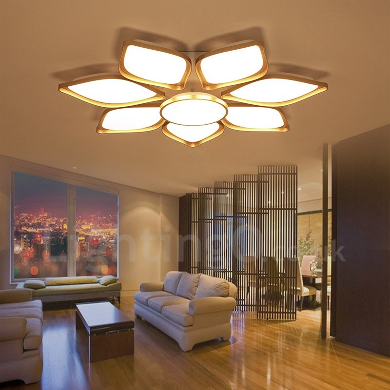 Light Filled Contemporary Living Rooms: 8 Light Modern/Contemporary LED Integrated Living Room