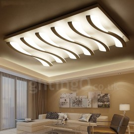 6 Light Modern/Contemporary LED Integrated Living Room,Dining Room,Bed Room Flush Mount