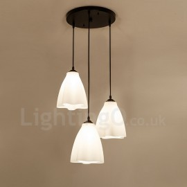 3 Light Traditional/Classic LED Integrated Living Room,Dining Room,Bed Room Metal Pendant Lights