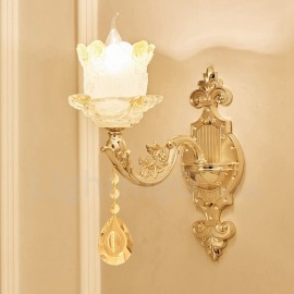 Single Light Traditional/Classic LED Integrated Living Room,Dining Room,Bed Room Metal Luxury Indoor Wall Sconces