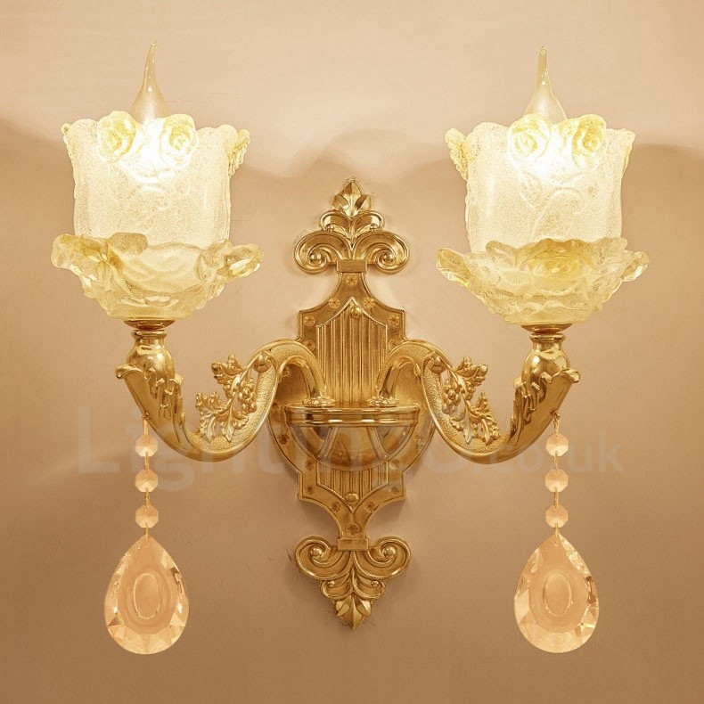 2 Light Traditional Classic Led Integrated Living Room Dining Room Bed Room Metal Indoor Wall Sconces
