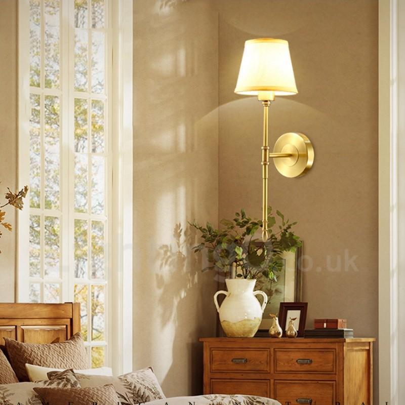 Single Light Traditional Classic Led Integrated E14 Copper