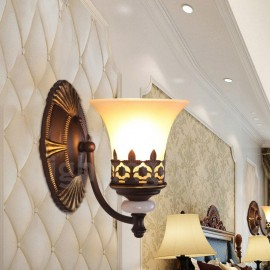 Single Light Traditional/Classic LED Integrated Living Room,Dining Room,Bed Room Metal Indoor Wall Sconces