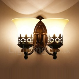 2 Light Traditional/Classic LED Integrated Living Room,Dining Room,Bed Room Metal Indoor Wall Sconces