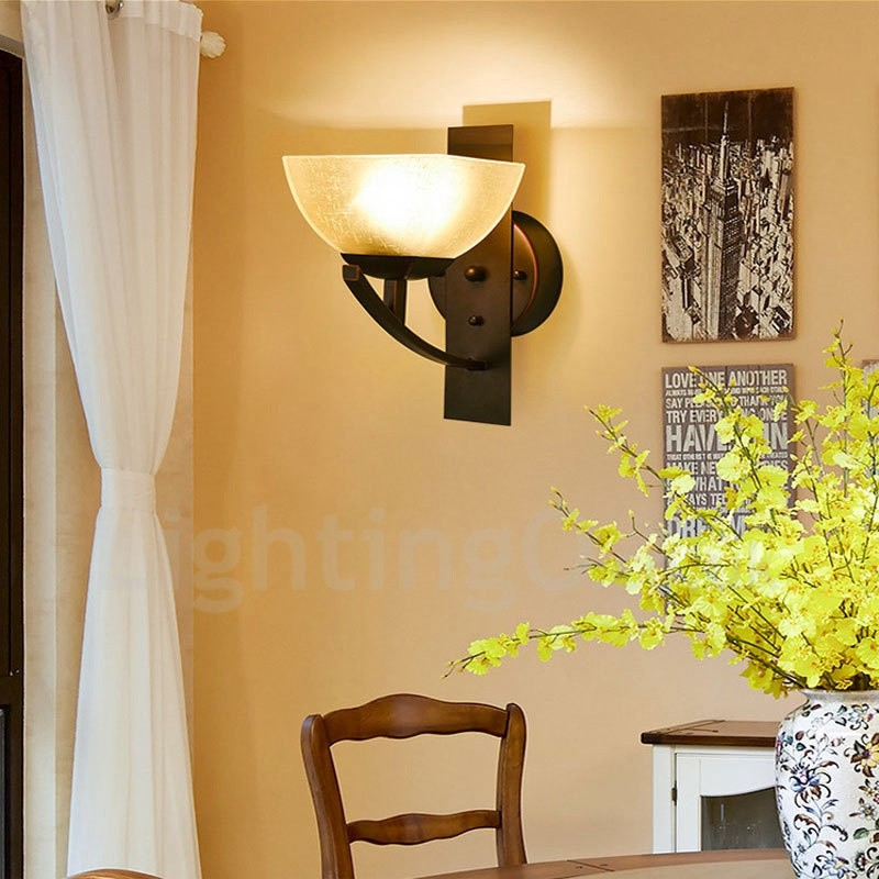 Three Posts Classic Horizontal Wall Décor Reviews: Single Light Traditional/Classic LED Integrated E27 Indoor
