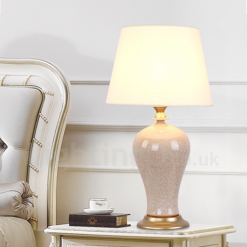 Traditional Classic Led Integrated Ceramics Table Lamps