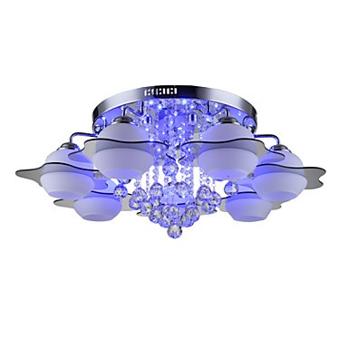 Remoter Control 7 Lights with Blue Reds Leds E27 Modern Ceiling Light Flush Mount