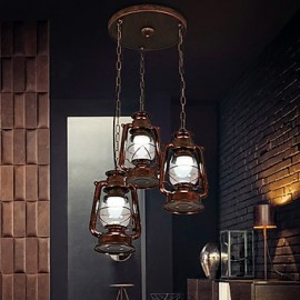 Rustic/Lodge Vintage Retro Mini Style Metal Living Room Bedroom Dining Room Pendant Light