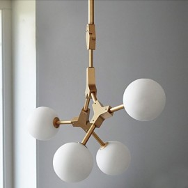 Traditional/Classic Painting Feature for Mini Style Wood/BambooLiving Room / Bedroom / Dining Room / Study 40W Pendant Light