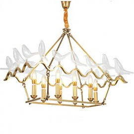 Modern/Contemporary Brass Feature for Designers Metal Living Room Dining Room Study Room/Office Chandelier