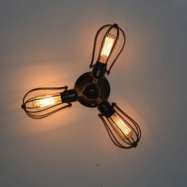 MAX 40W Traditional/Classic / Vintage Mini Style / Bulb Included Painting Metal Flush MountLiving Room / Bedroom / Dining Room / Study