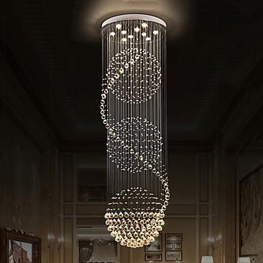 Modern crystal ceiling chandeliers indoor pendant light hanging modern crystal ceiling chandeliers indoor pendant light hanging lights lamp lighting fixtures aloadofball Image collections